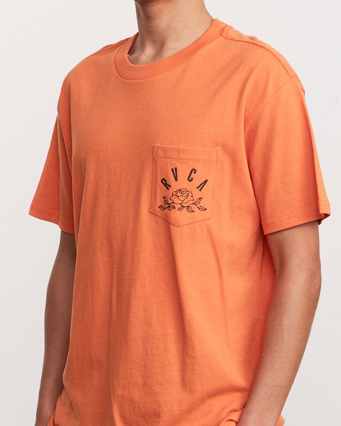 5 Rose State Pocket T-Shirt Orange M414URRO RVCA