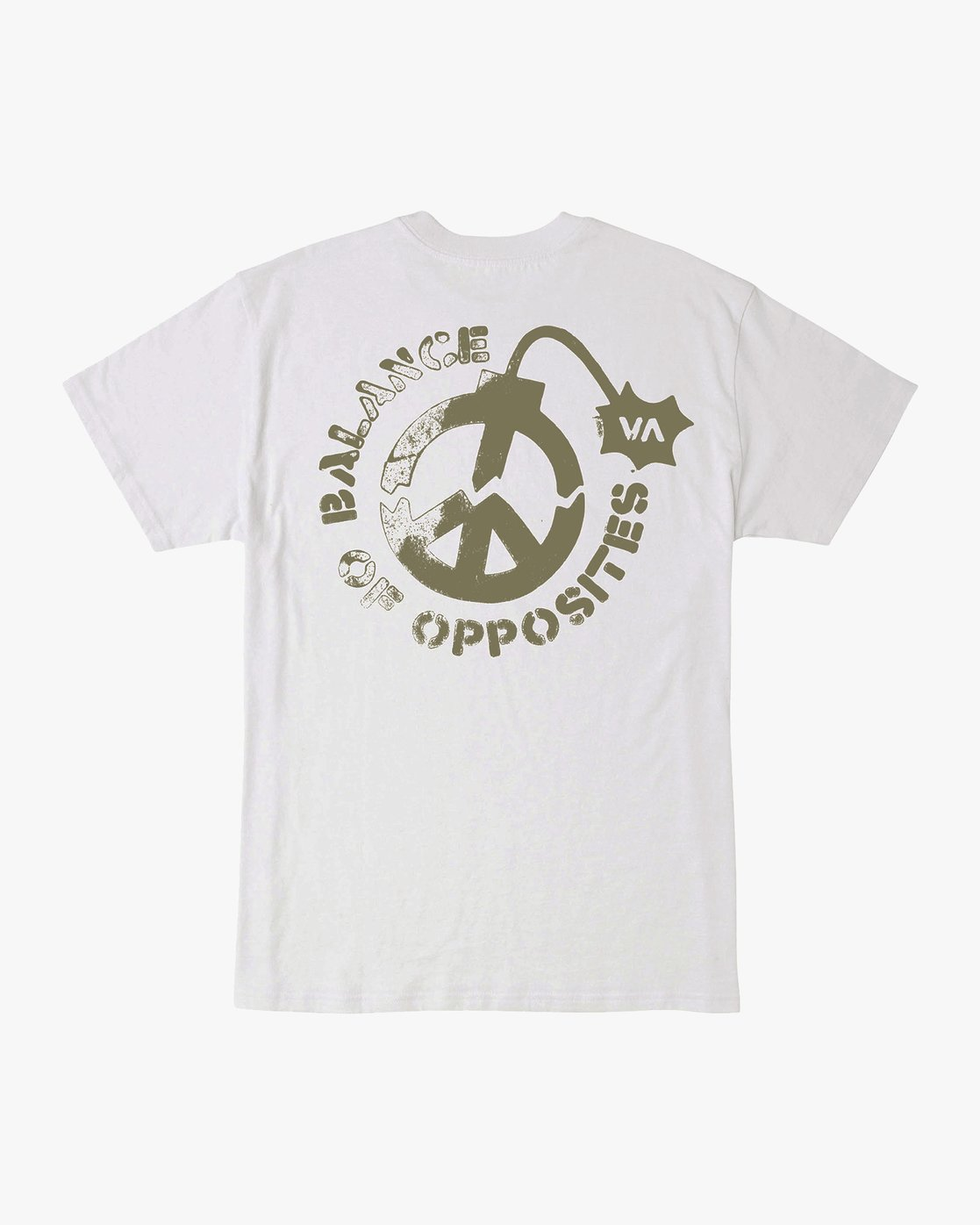 0 Peace Out T-Shirt White M414VRPE RVCA