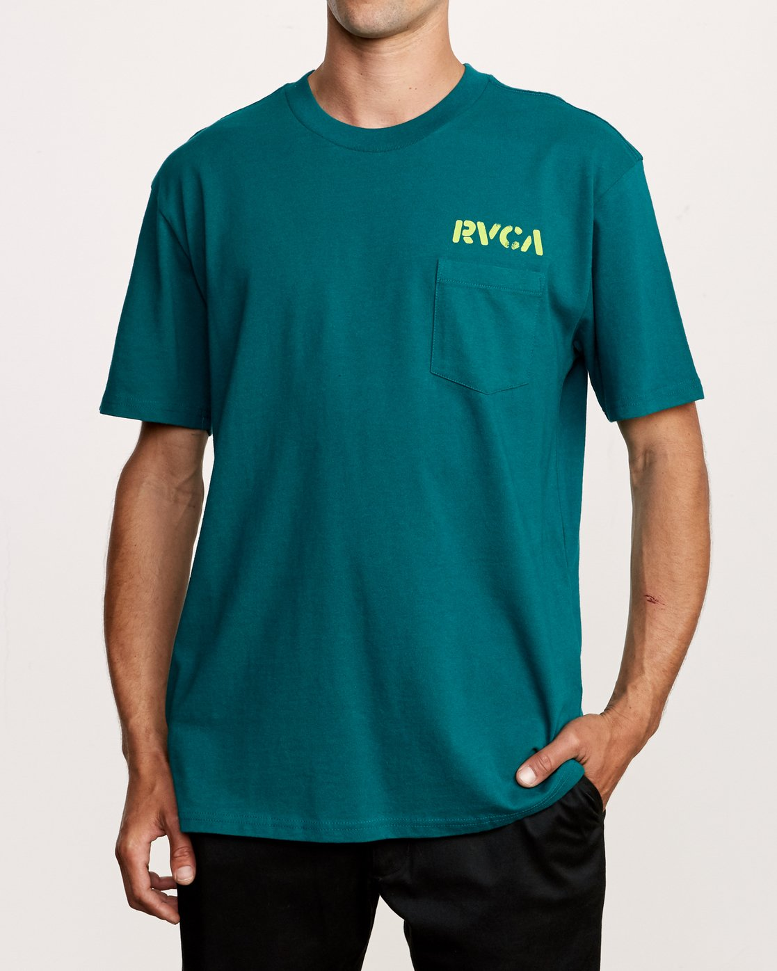 2 Peace Out T-Shirt Green M414VRPE RVCA