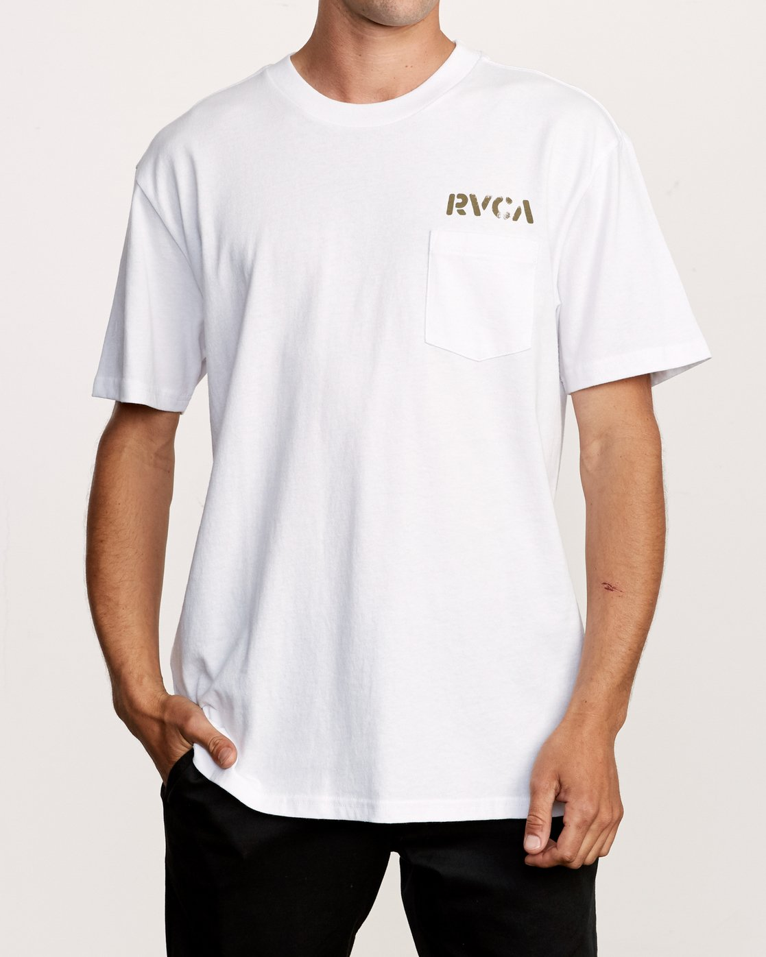2 Peace Out T-Shirt White M414VRPE RVCA