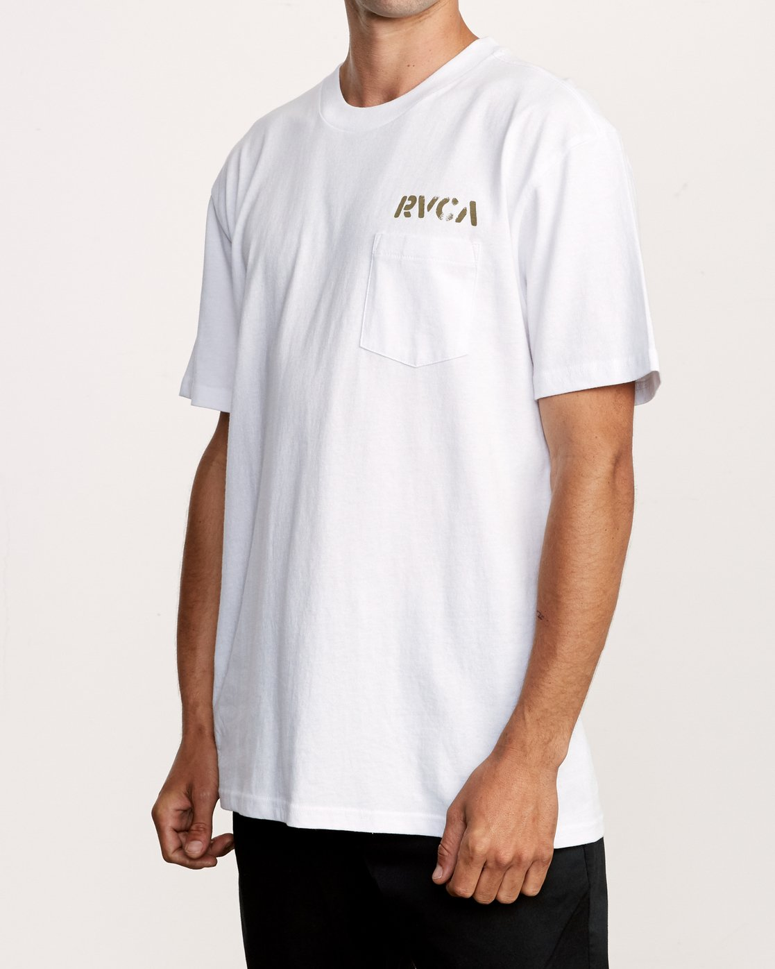 3 Peace Out T-Shirt White M414VRPE RVCA