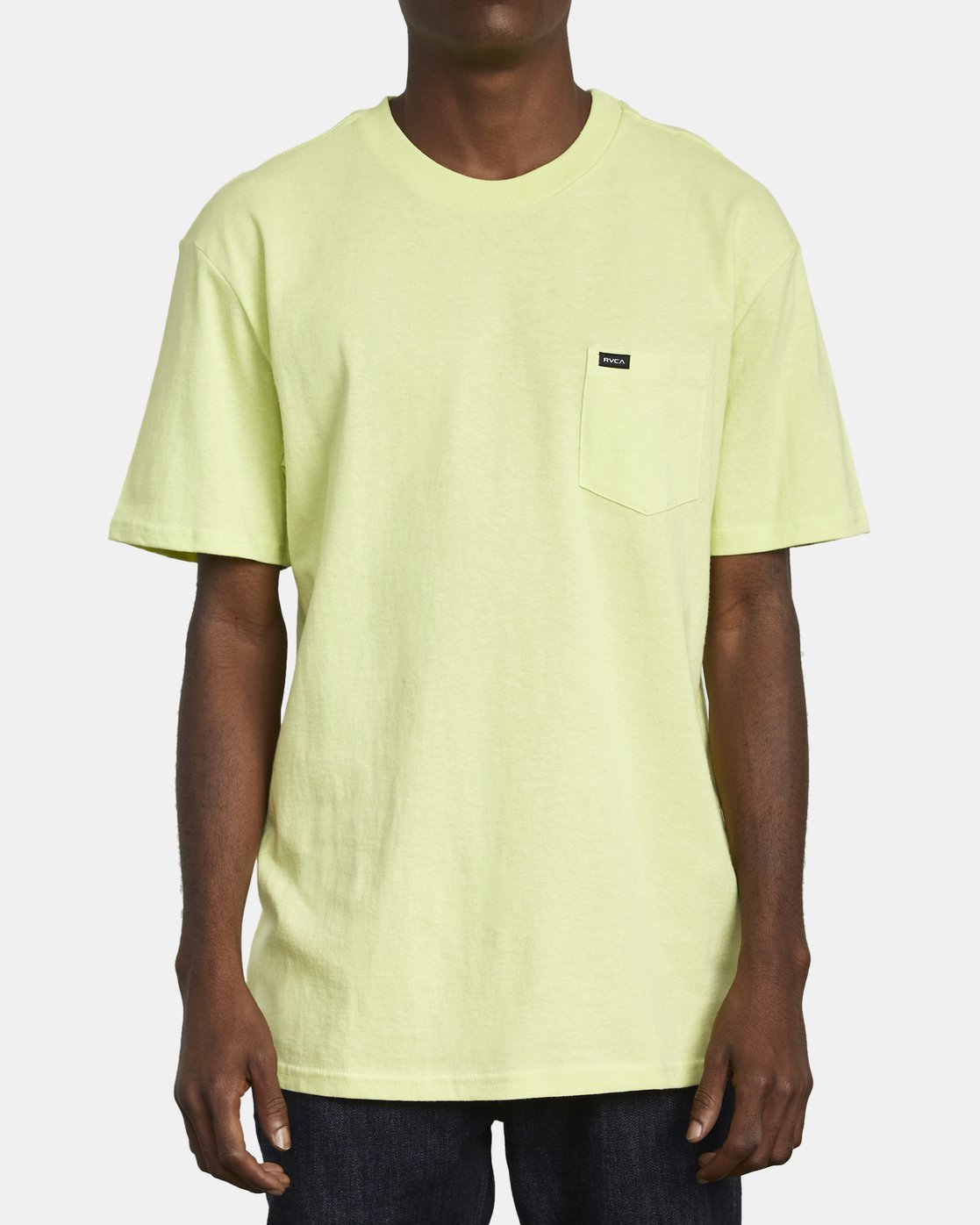 1 SOLO LABEL TEE Yellow M414VRSO RVCA