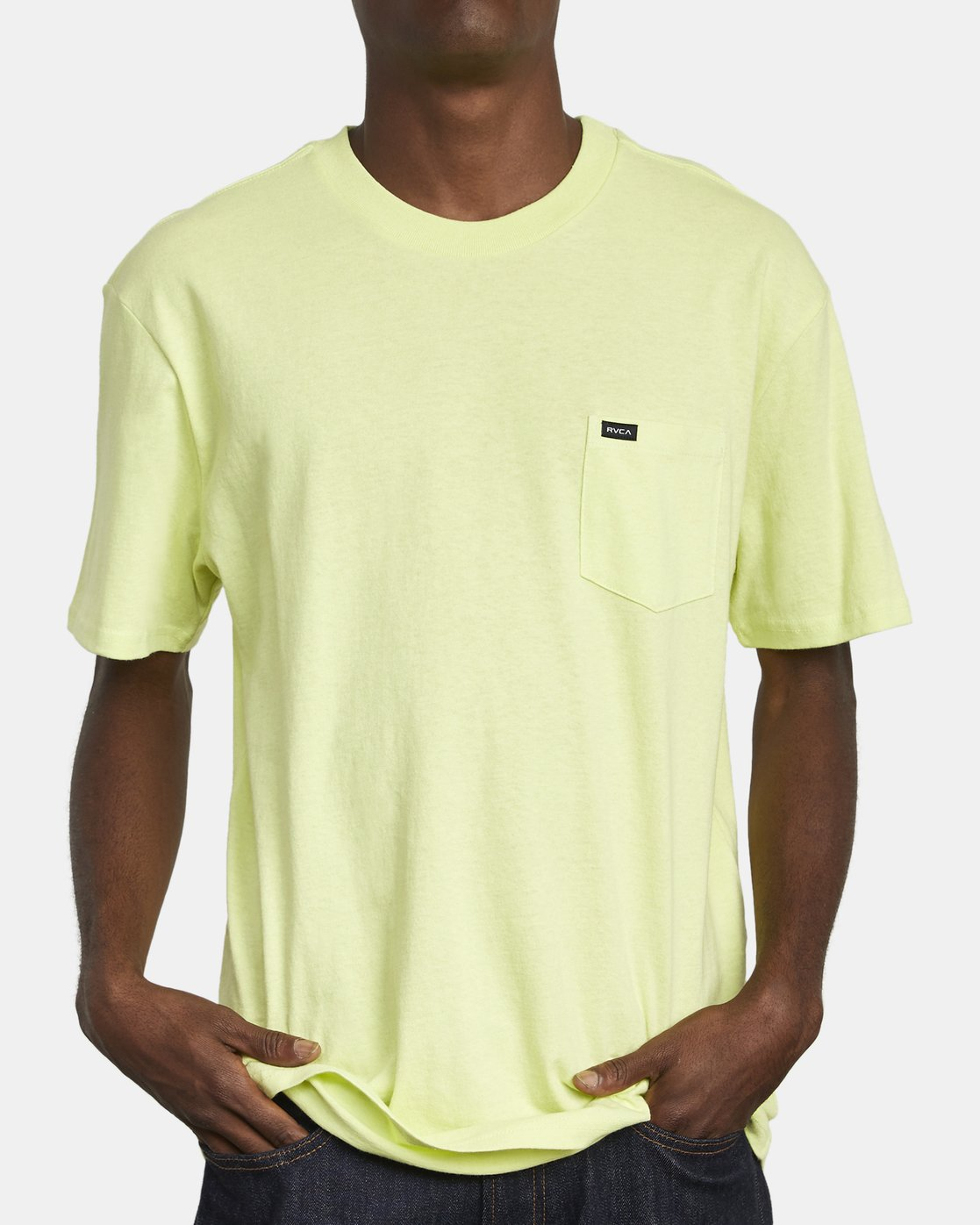 2 SOLO LABEL TEE Yellow M414VRSO RVCA