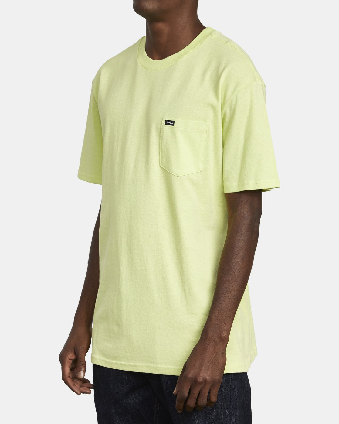 3 SOLO LABEL TEE Yellow M414VRSO RVCA