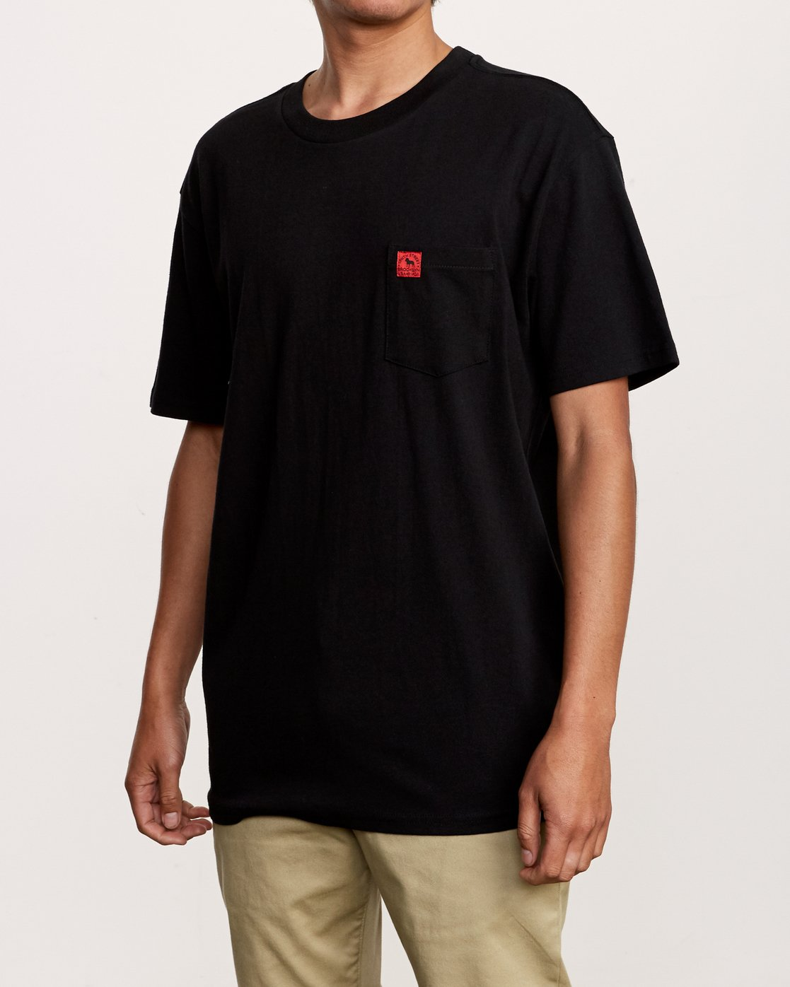 3 Smith Street Wicks Pocket T-Shirt Black M414VRWI RVCA