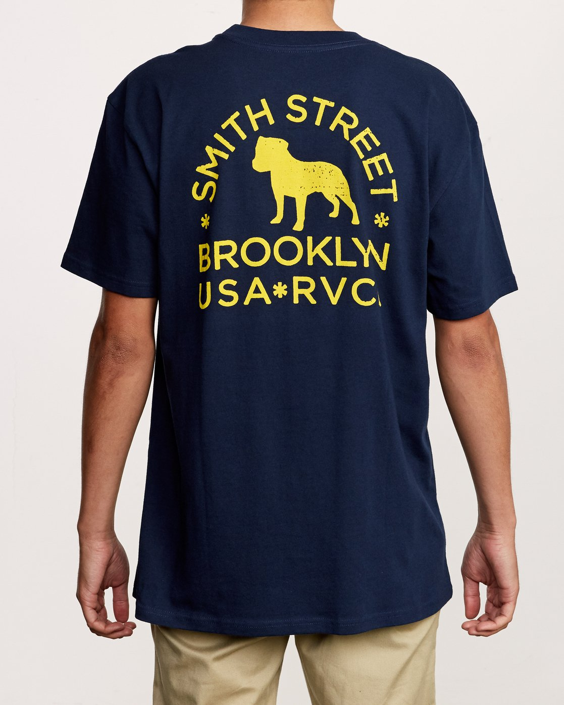 4 Smith Street Wicks Pocket T-Shirt Blue M414VRWI RVCA