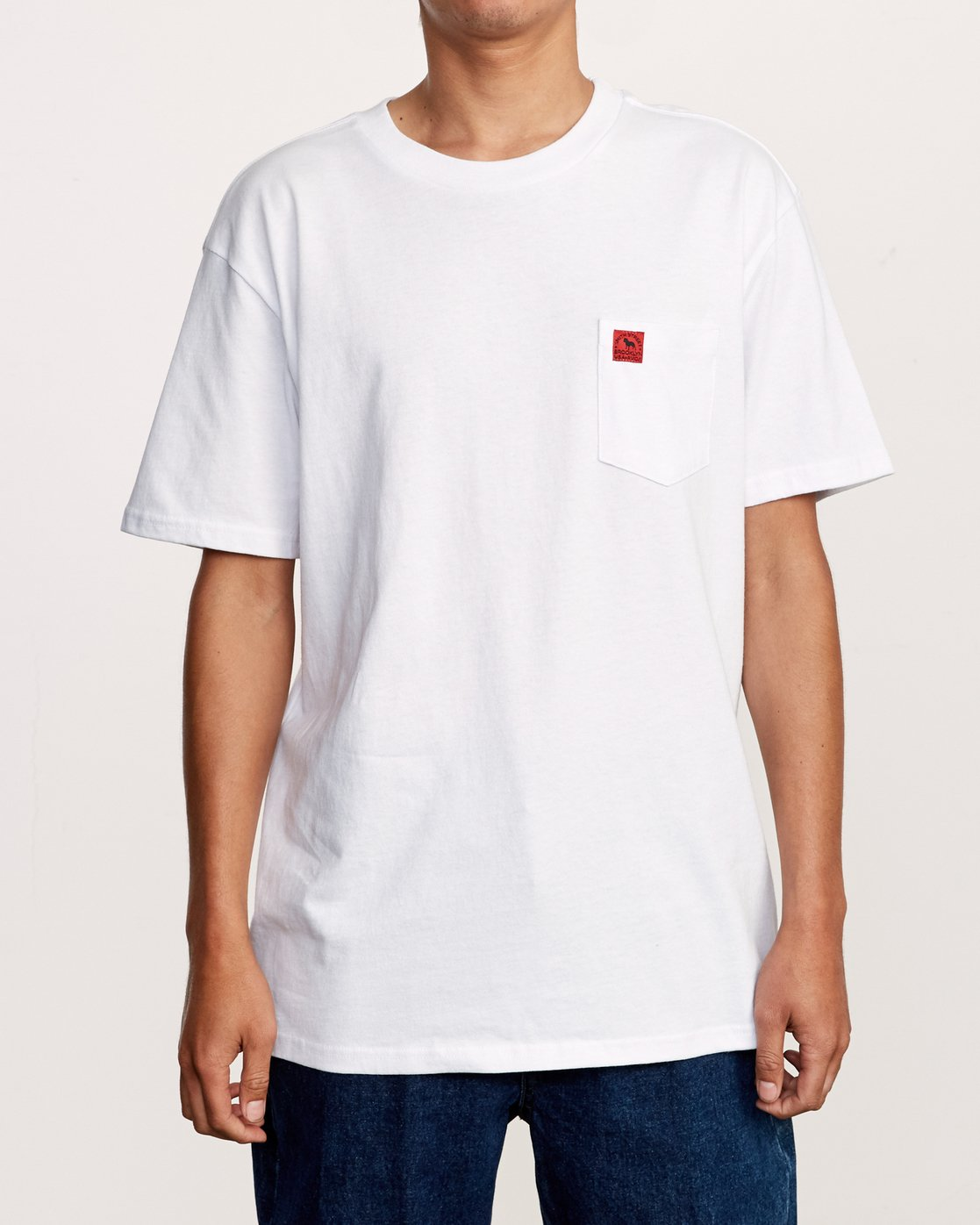 2 Smith Street Wicks Pocket T-Shirt White M414VRWI RVCA
