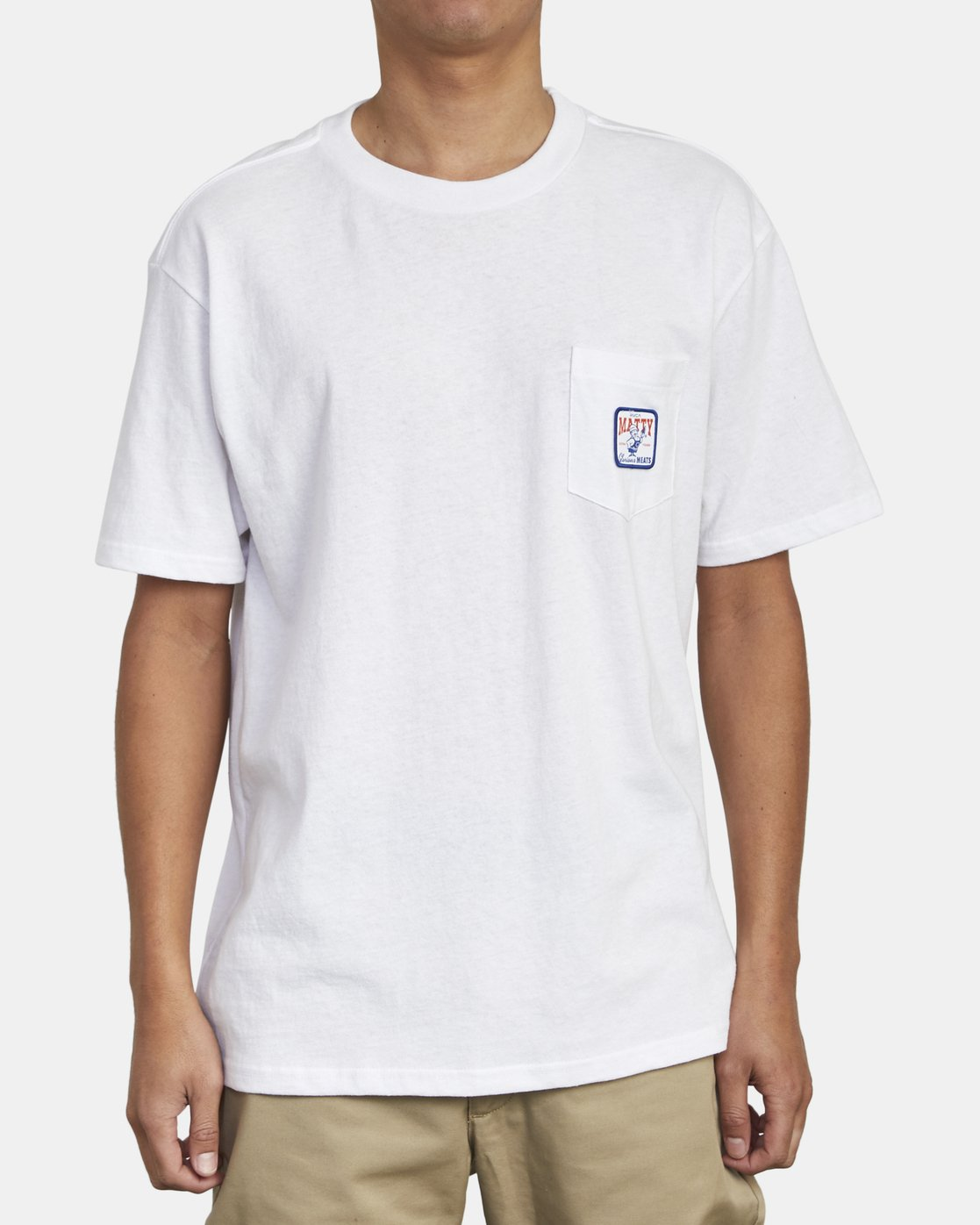2 MATTY'S POCKET TEE White M414WRGM RVCA