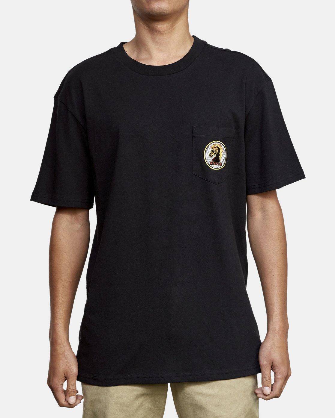 2 Ben Venom Knight Me T-Shirt Black M414WRKM RVCA