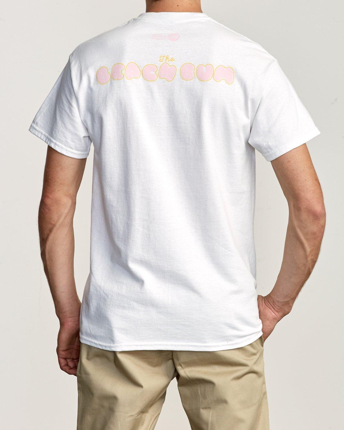 4 Beach Bum T-Shirt White M419TRBB RVCA