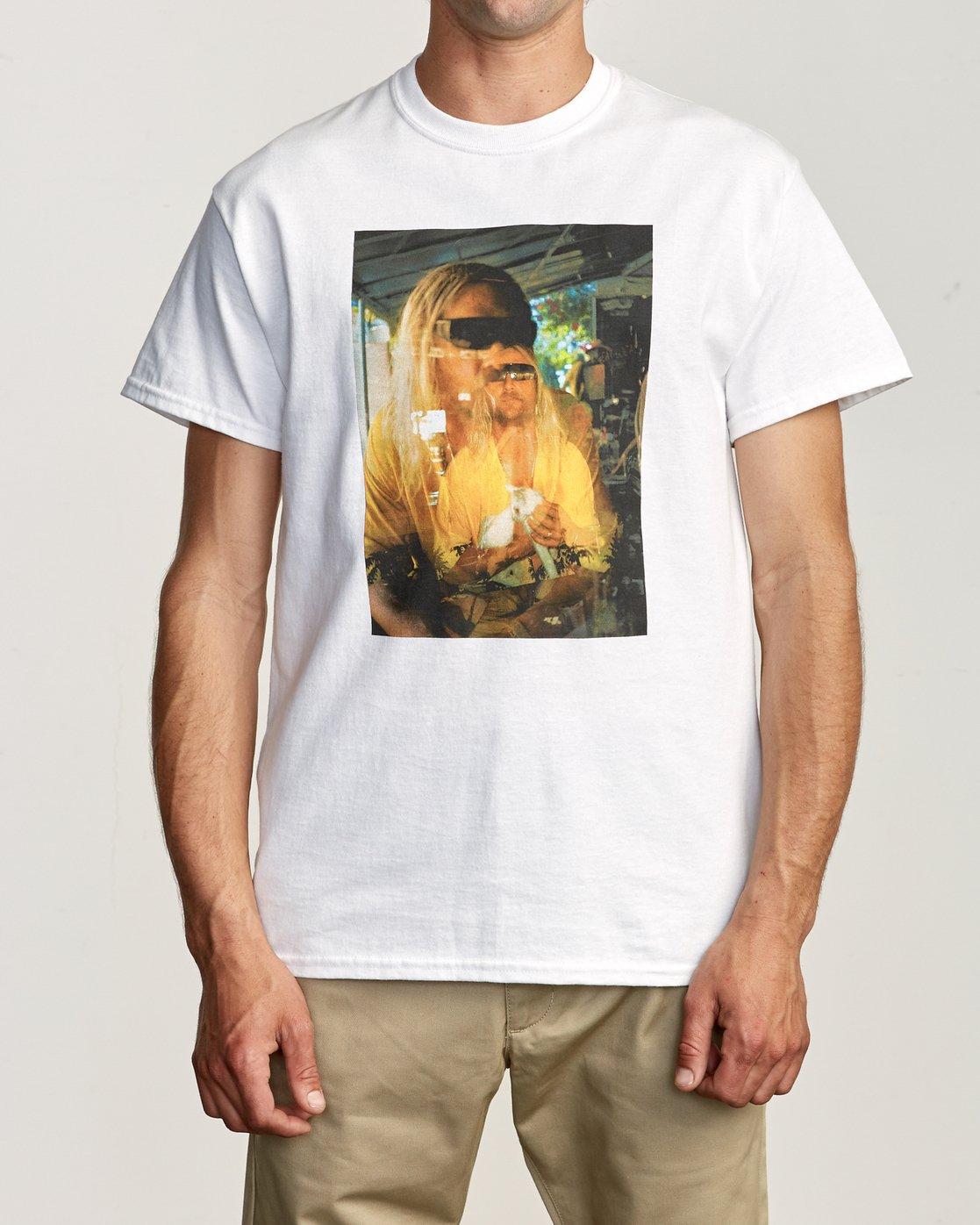 2 Beach Bum T-Shirt White M419TRBB RVCA