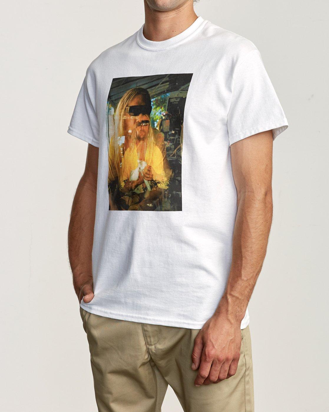 3 Beach Bum T-Shirt White M419TRBB RVCA