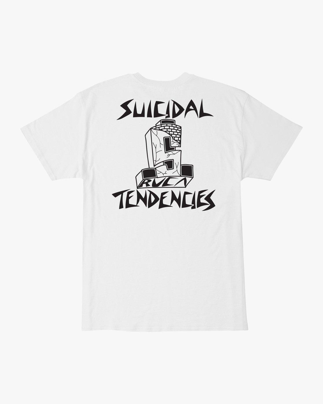 0 RVCA x Suicidal Tendencies TEE White M419TRSU RVCA
