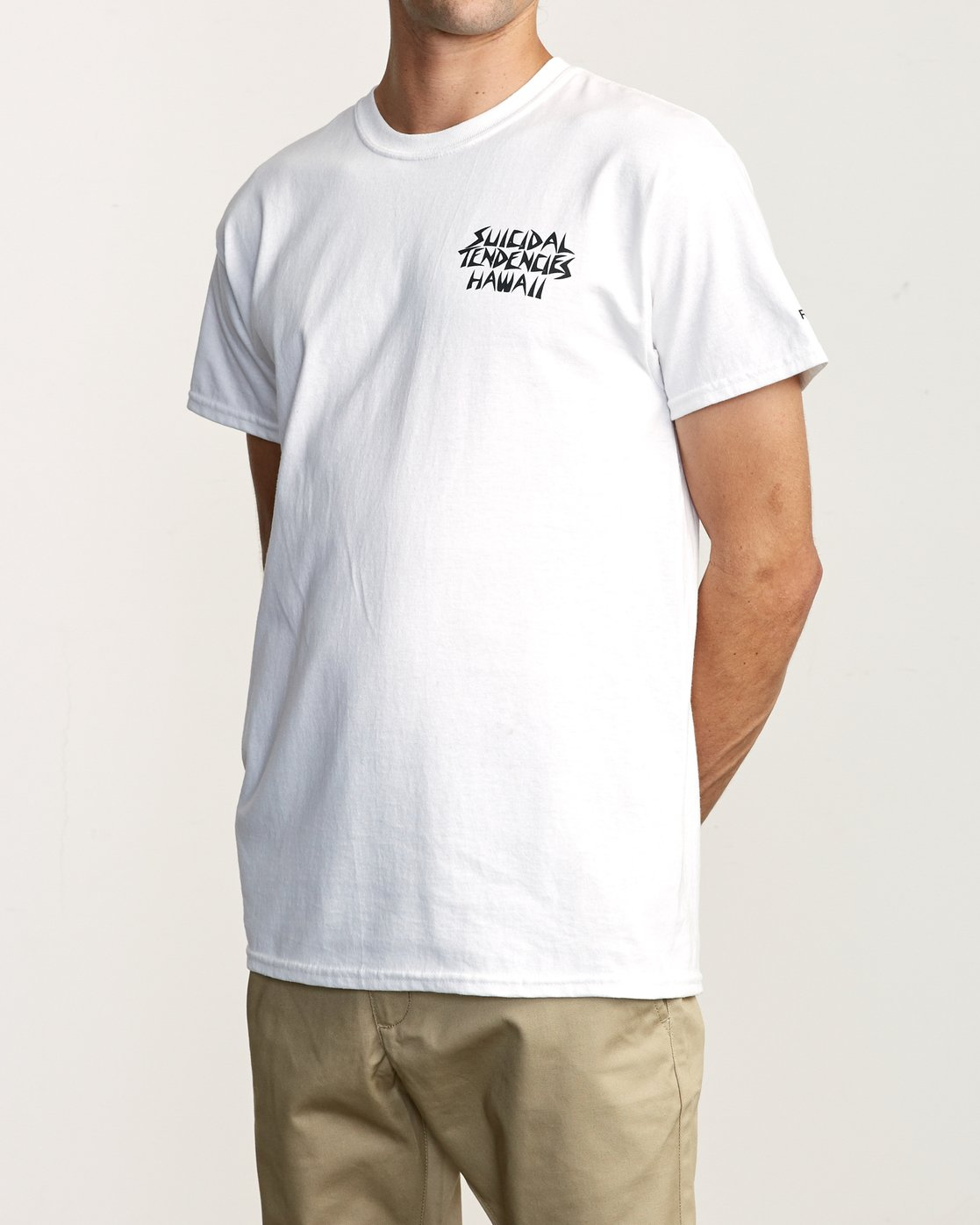 3 RVCA x Suicidal Tendencies T-Shirt White M419TRSU RVCA