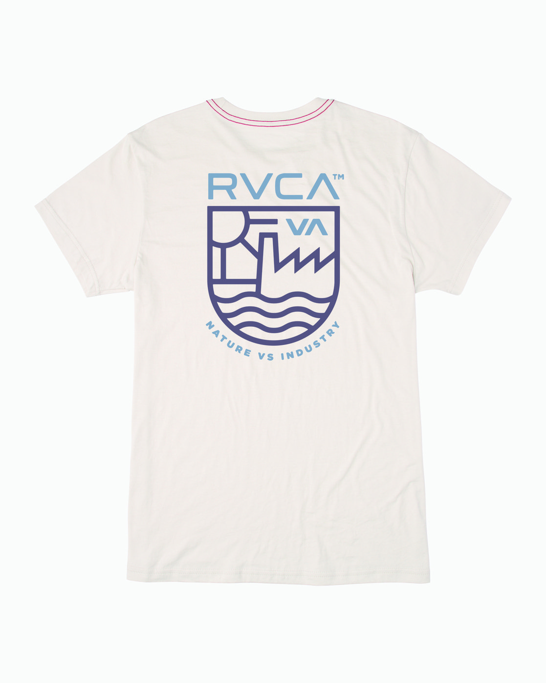 1 DEPT OF IND SHORT SLEEVE TEE White M4203RDE RVCA