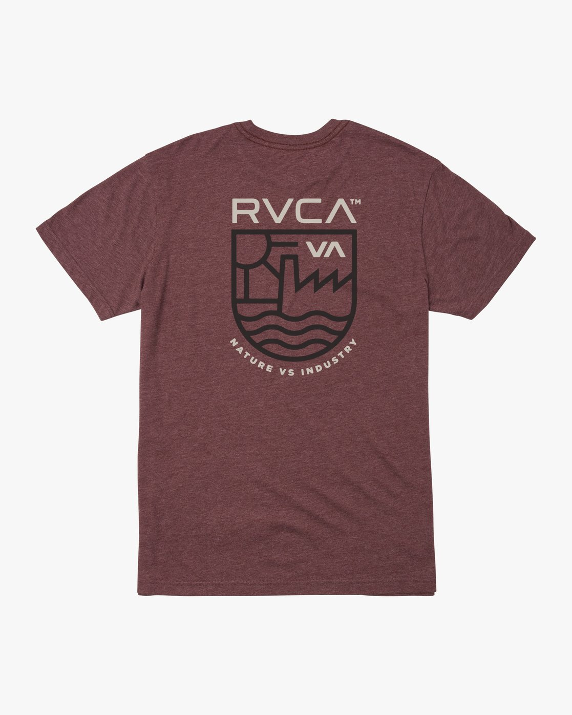 1 DEPT OF IND SHORT SLEEVE TEE Red M4203RDE RVCA