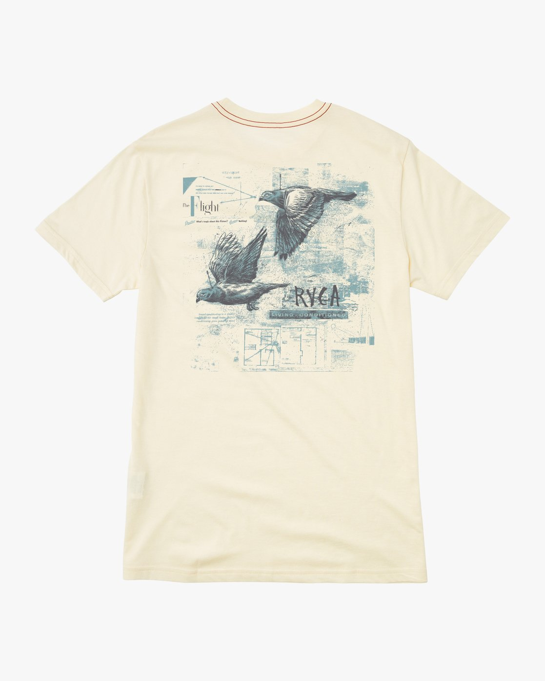 0 Living Conditions Ben Horton T-Shirt Yellow M420PRLI RVCA
