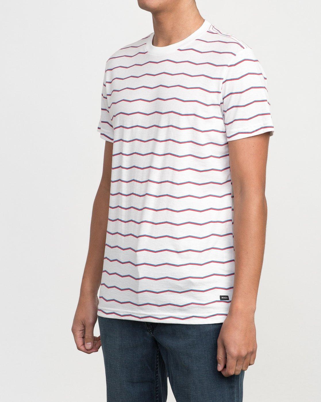 2 VA Stripe T-Shirt White M420PRVA RVCA