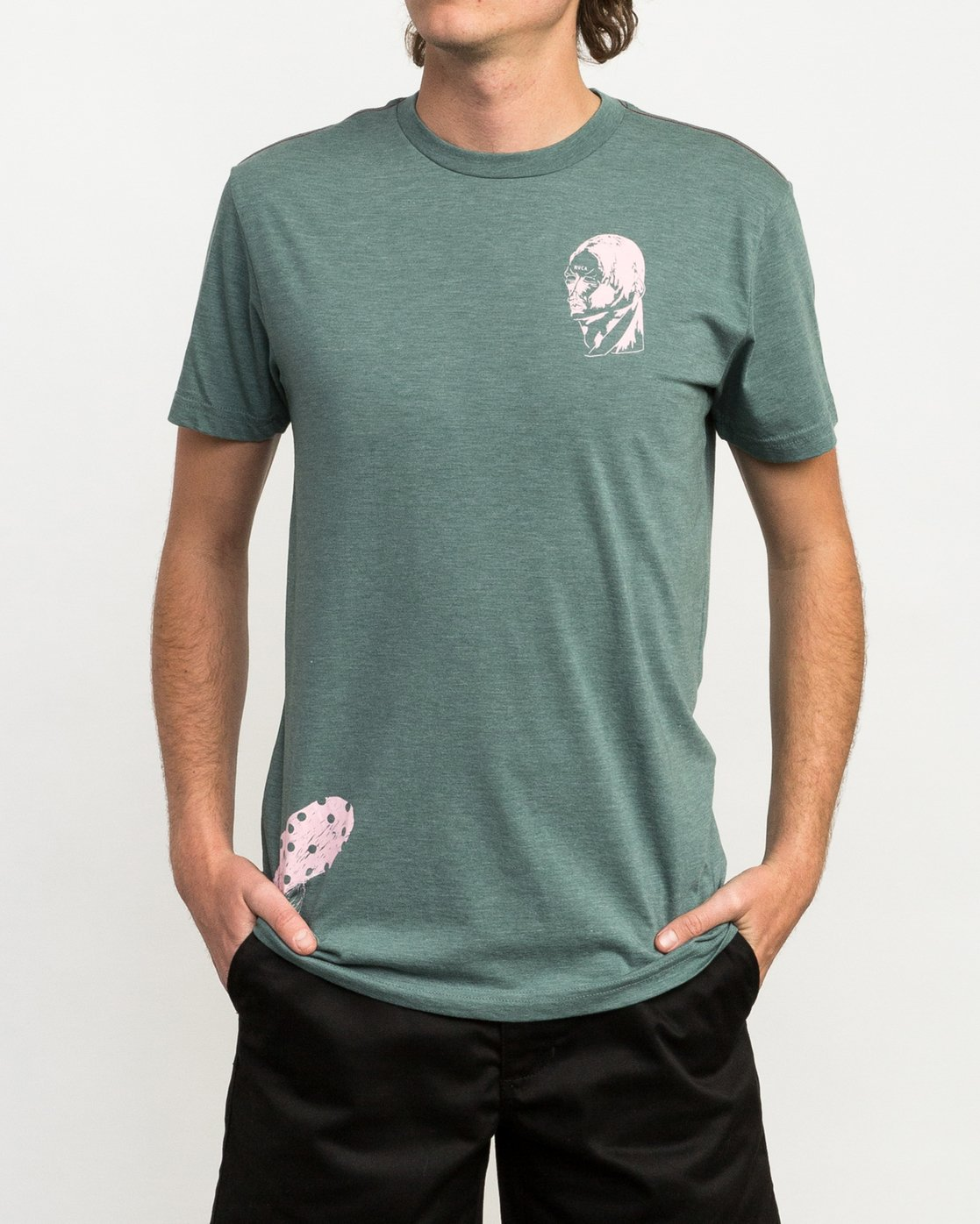 2 Francesco 4Heads T-Shirt Green M420QRHE RVCA