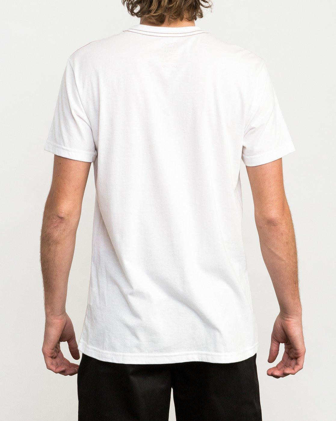 3 Hexest T-Shirt White M420QRHX RVCA
