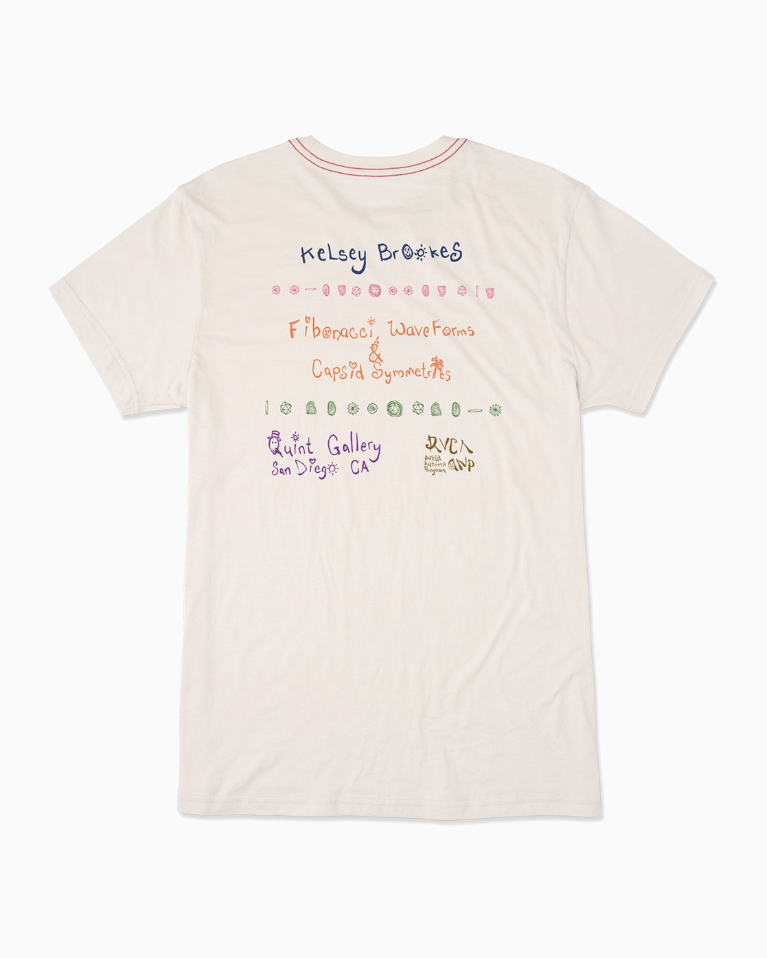 1 RVCA Platform Kelsey Brookes Quint Gallery T-Shirt  M420QRKB RVCA