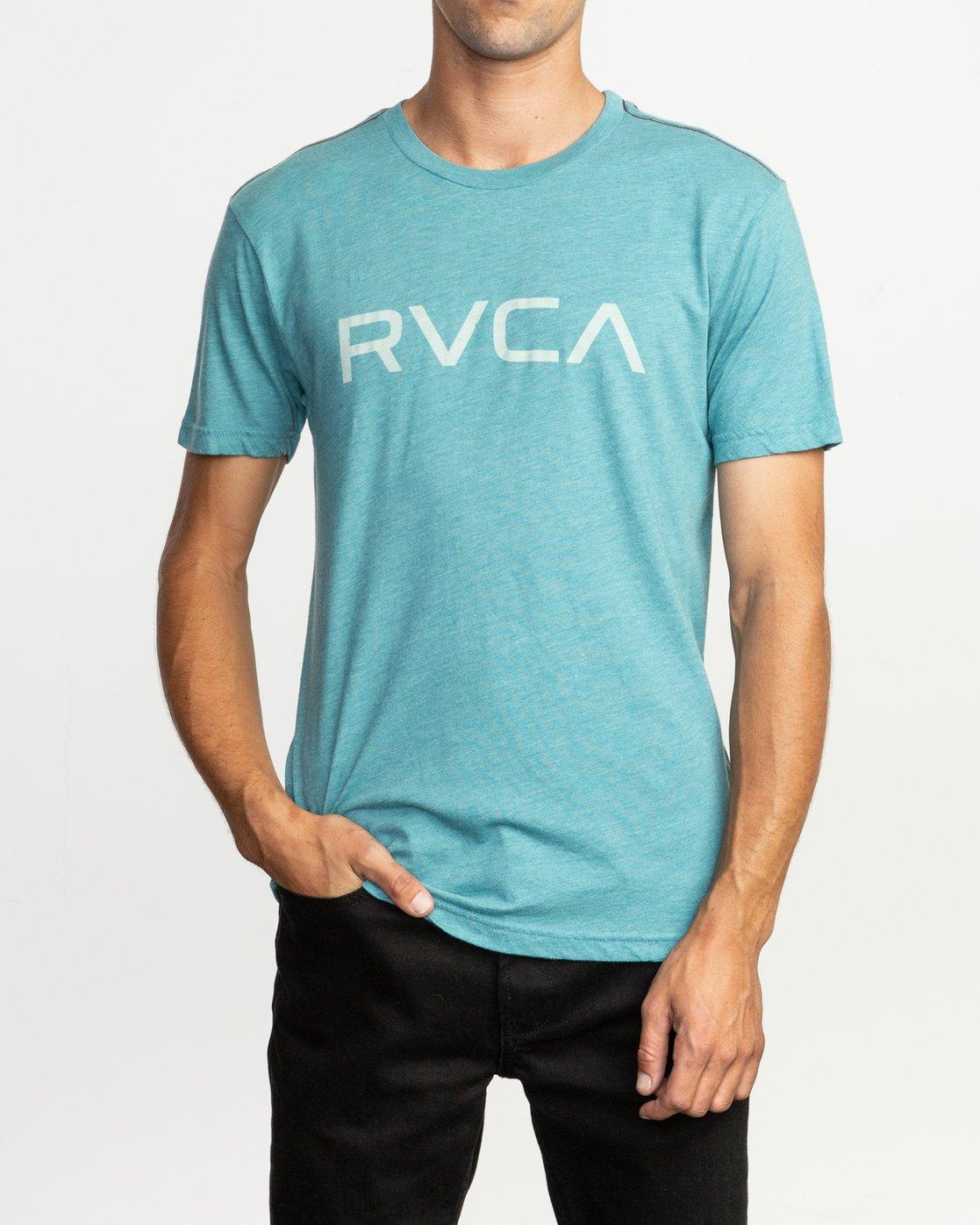 1 Big RVCA T-Shirt Blue M420SRBI RVCA
