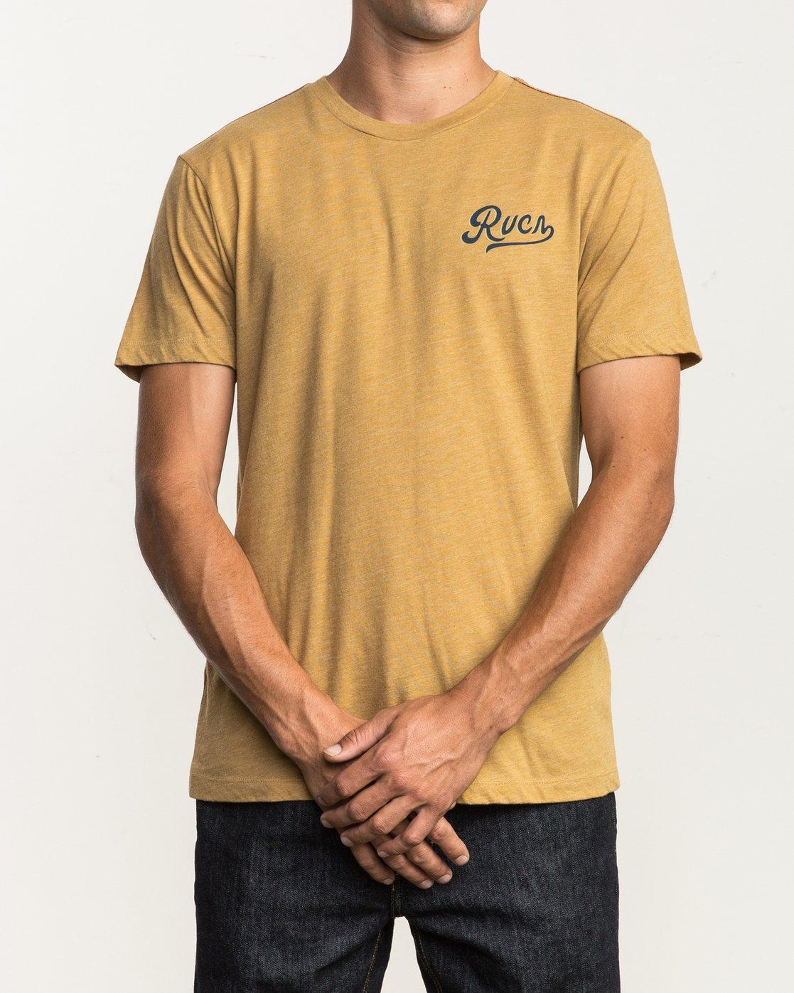 2 North Park T-Shirt Green M420SRNO RVCA
