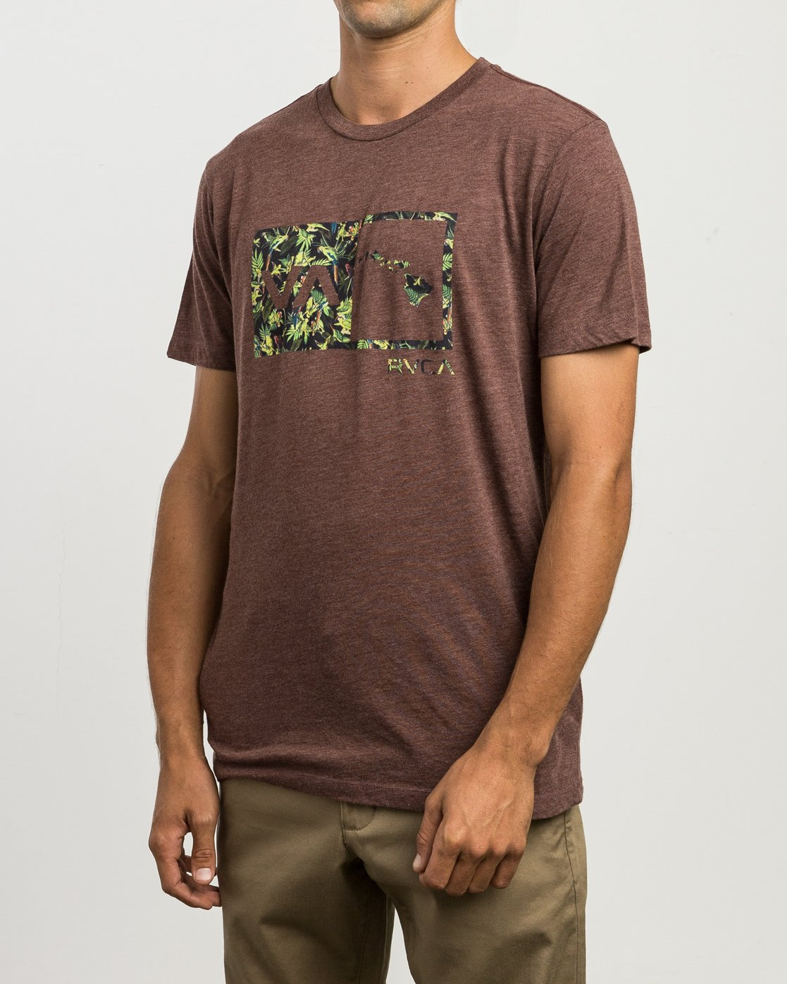 2 Squawker Islands Balance Box T-Shirt  M420SRSS RVCA