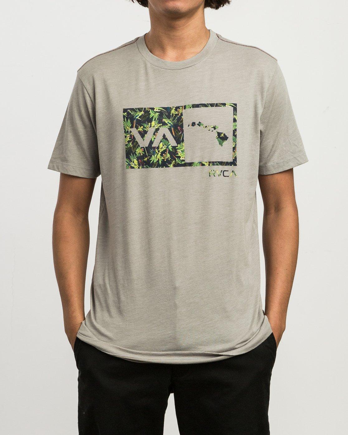 1 Squawker Islands Balance Box T-Shirt Multicolor M420SRSS RVCA