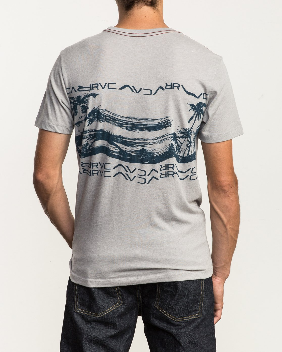 4 Warped Palm T-Shirt Multicolor M420SRWA RVCA