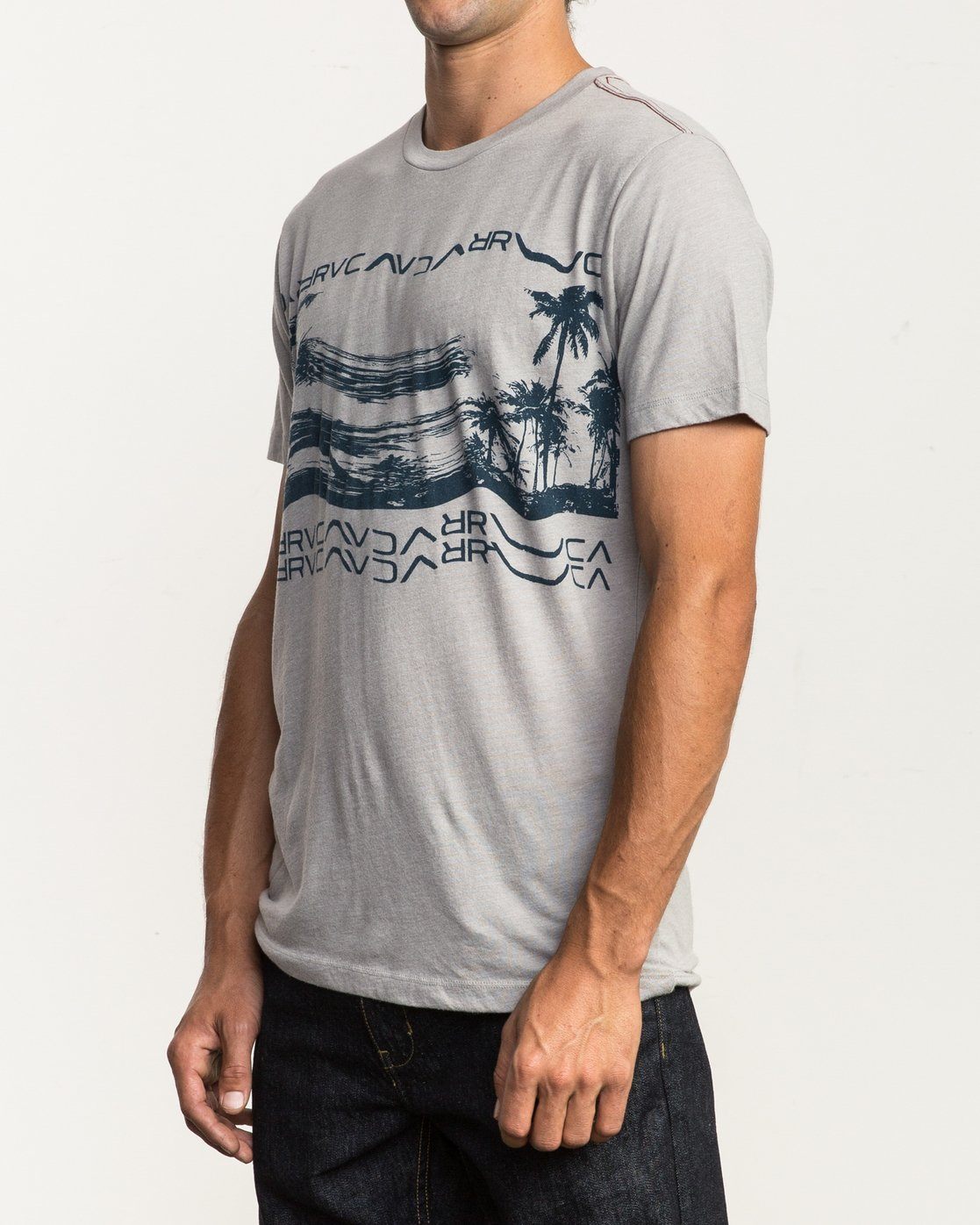 3 Warped Palm T-Shirt Multicolor M420SRWA RVCA