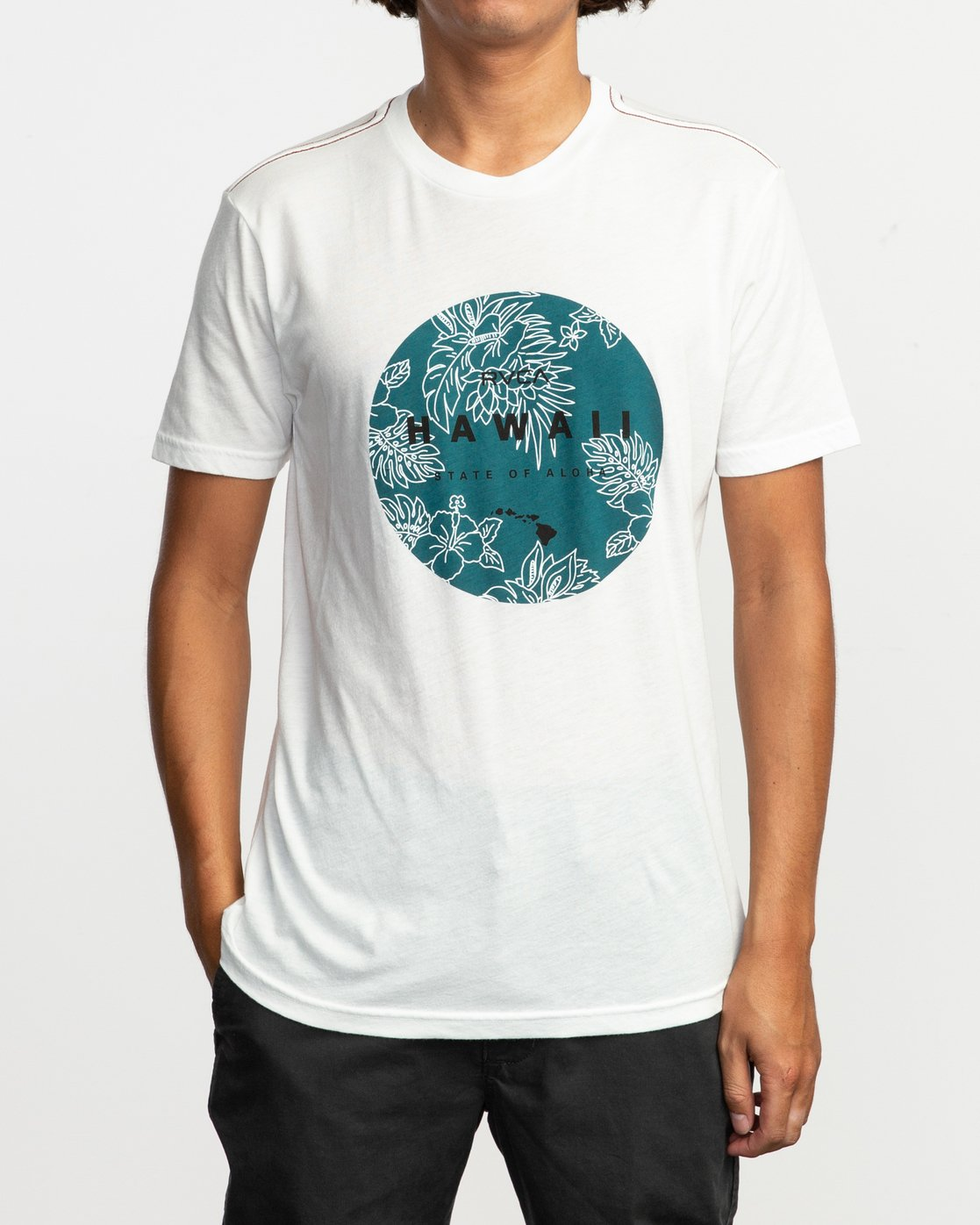 1 Da Aina Sphere T-Shirt White M420TRDS RVCA