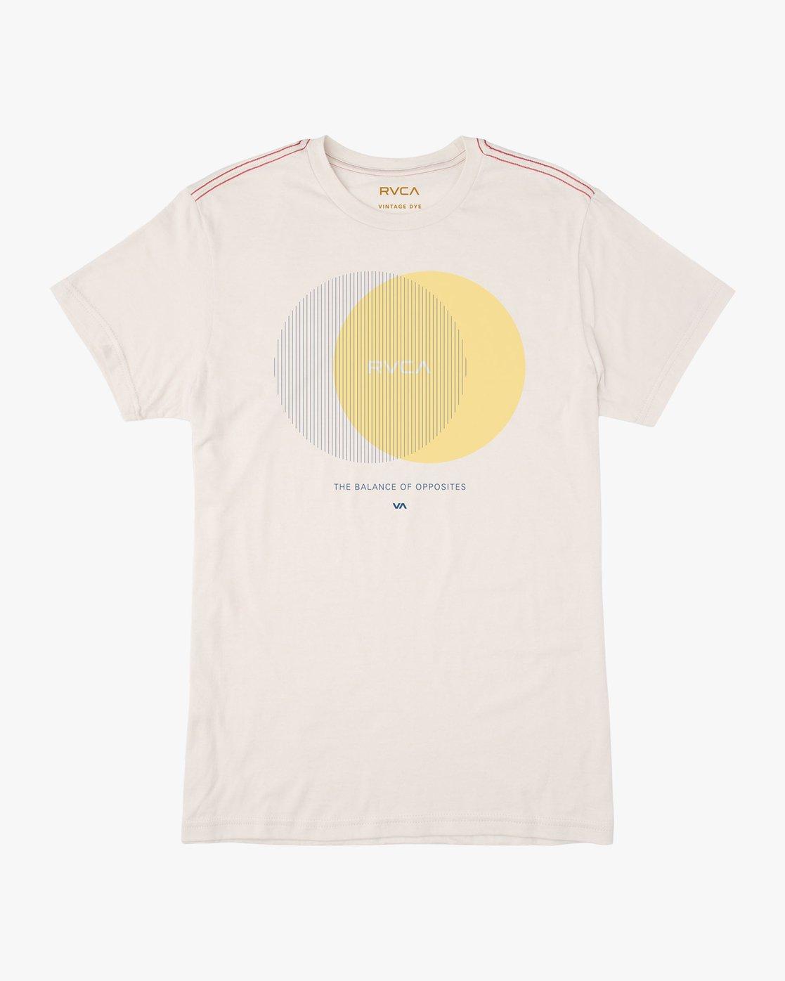 0 Eclipsed T-Shirt White M420TREC RVCA