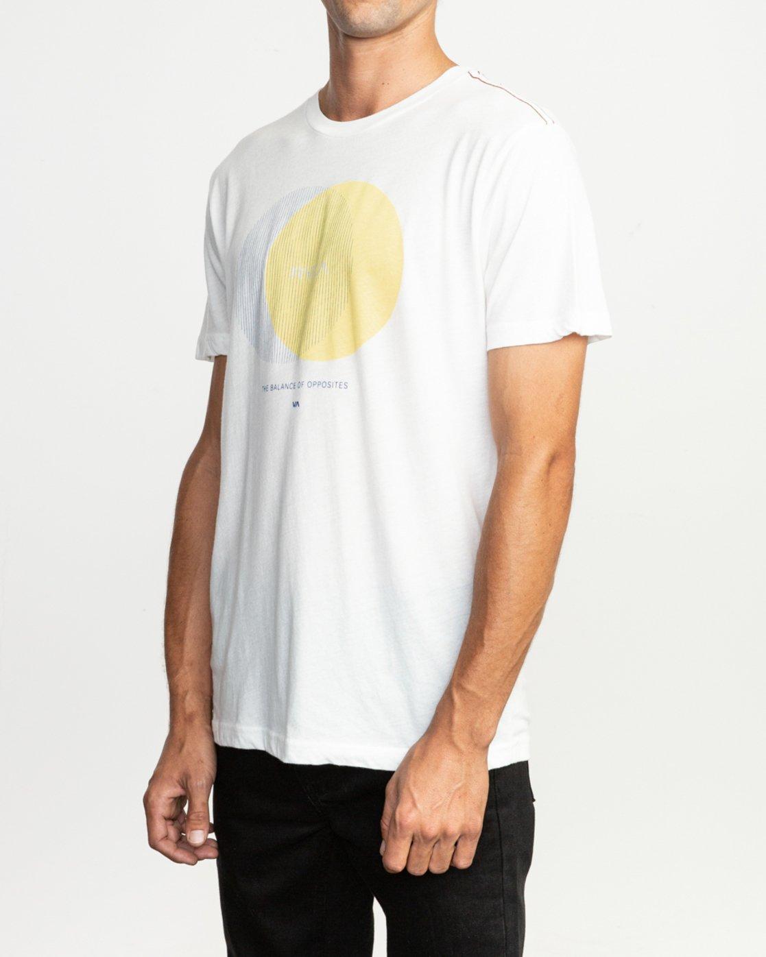 3 Eclipsed T-Shirt White M420TREC RVCA