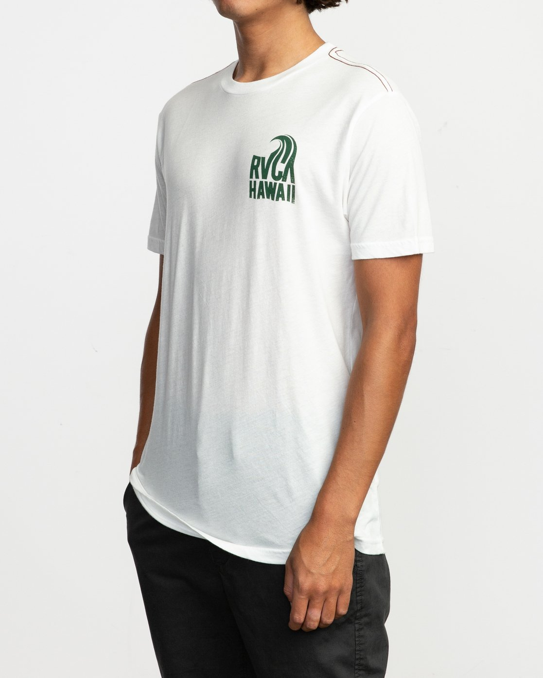 2 Hawaii Curl T-Shirt White M420TRHS RVCA