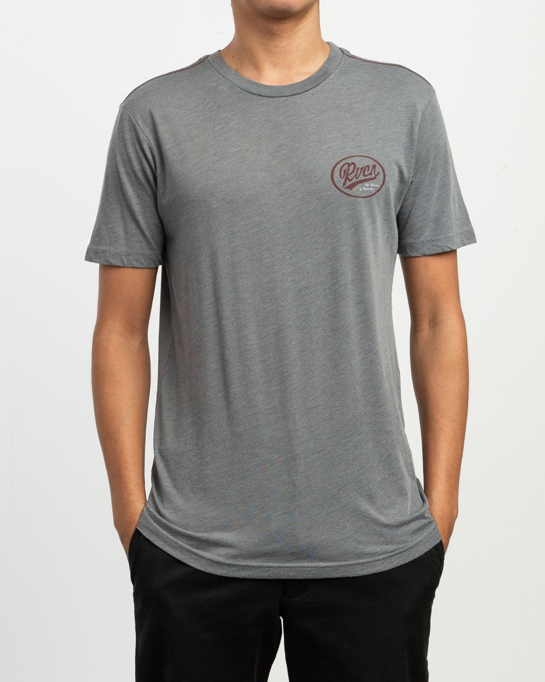 2 One Shott T-Shirt Grey M420TRON RVCA