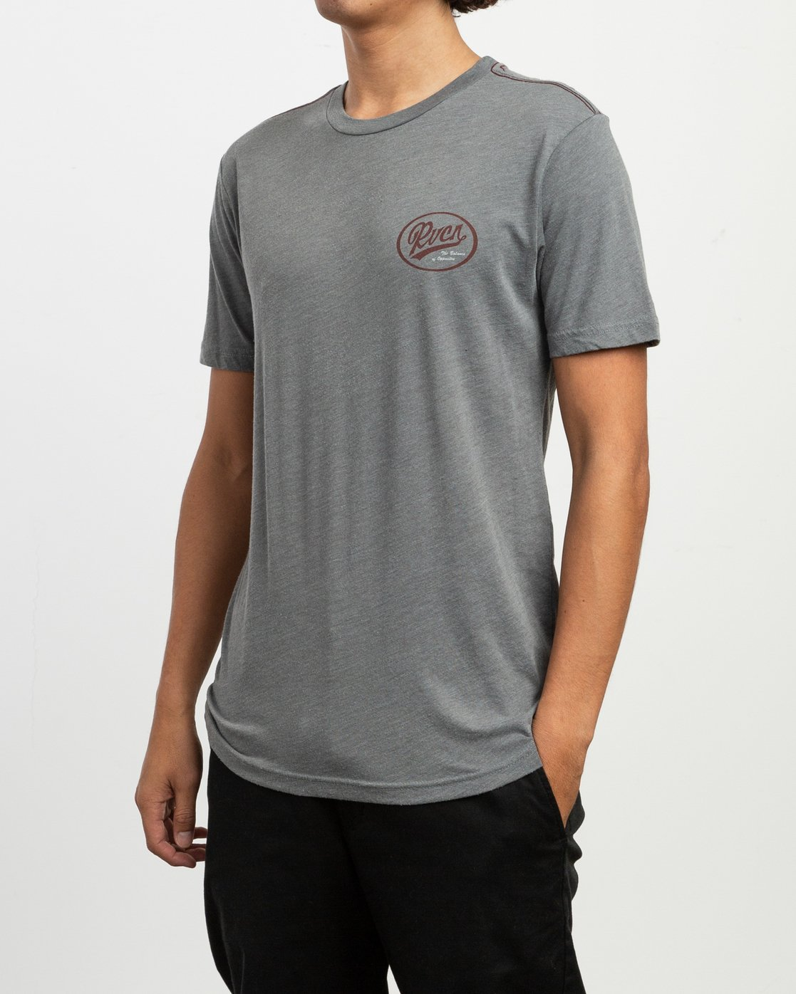 3 One Shott T-Shirt Grey M420TRON RVCA