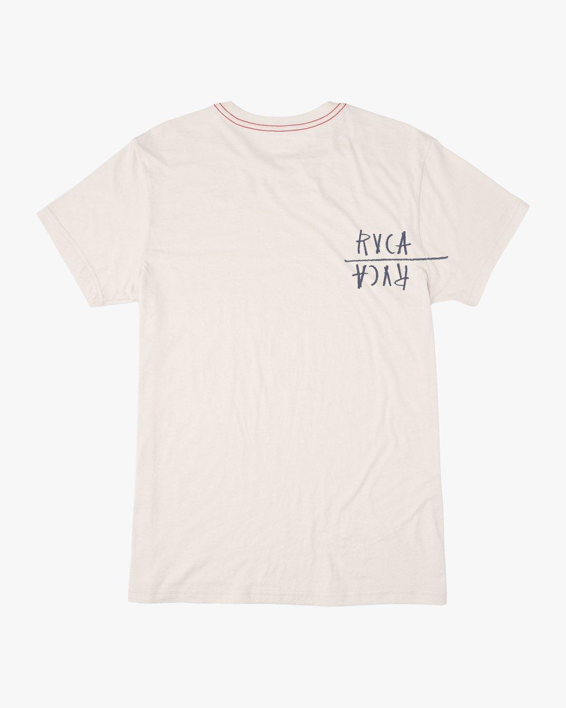 1 Ben Horton Smoker T-Shirt White M420TRSM RVCA