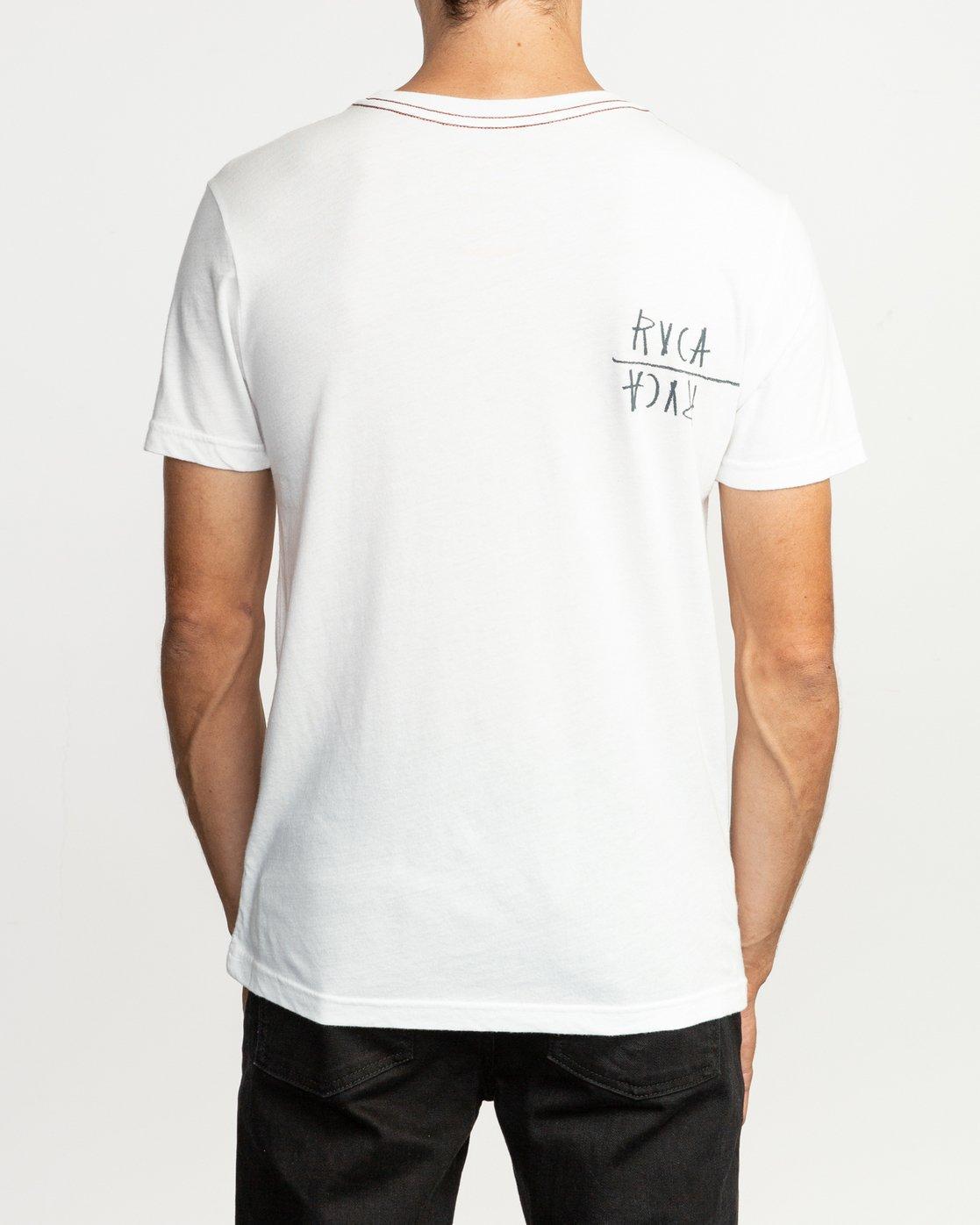 4 Ben Horton Smoker T-Shirt White M420TRSM RVCA