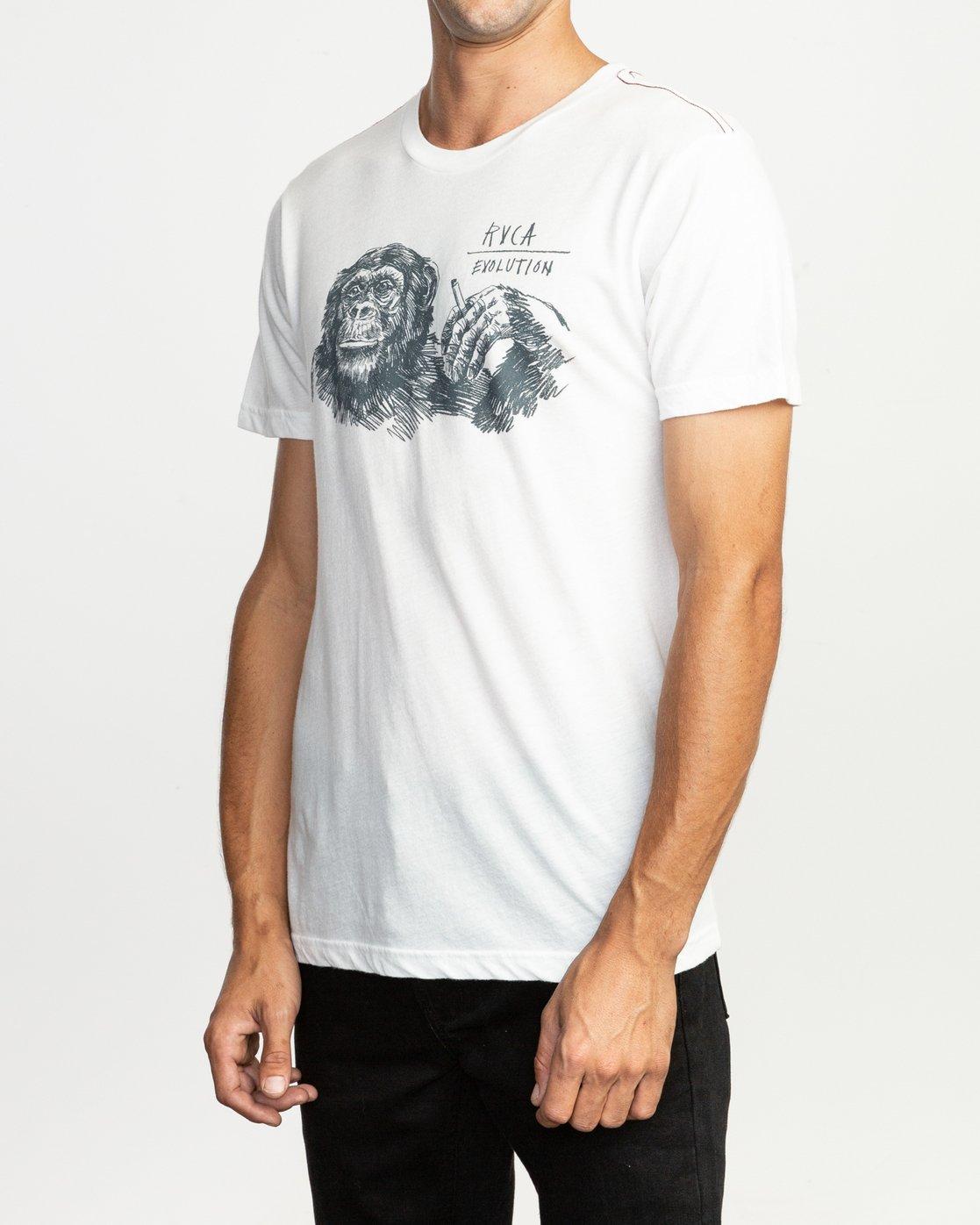 3 Ben Horton Smoker T-Shirt White M420TRSM RVCA