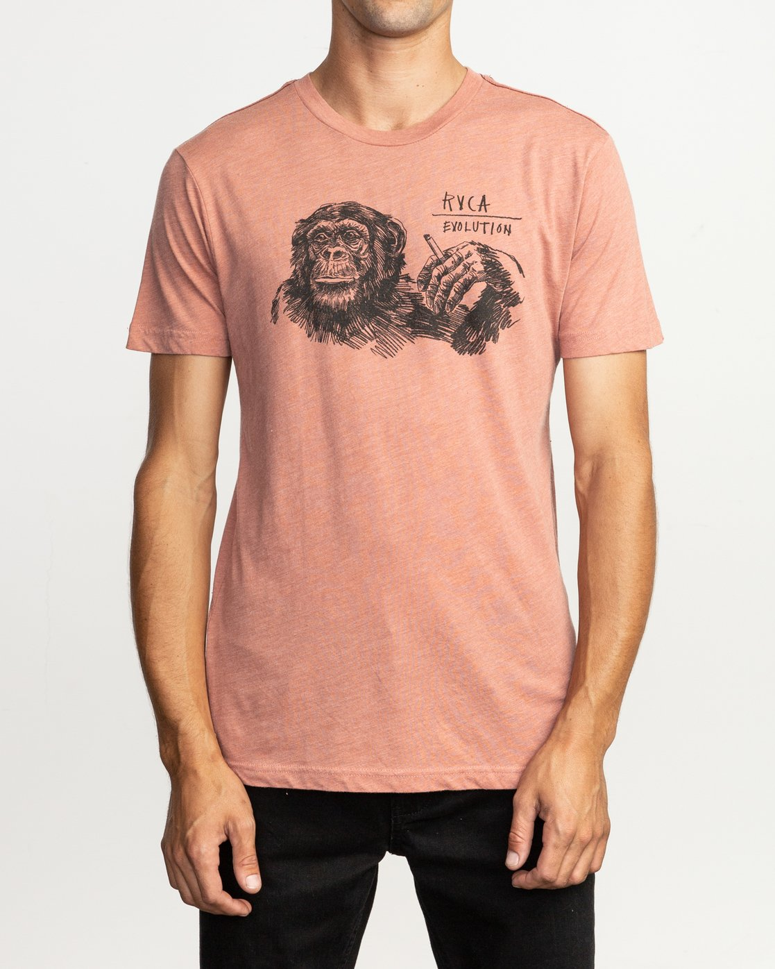 2 Ben Horton Smoker T-Shirt Brown M420TRSM RVCA