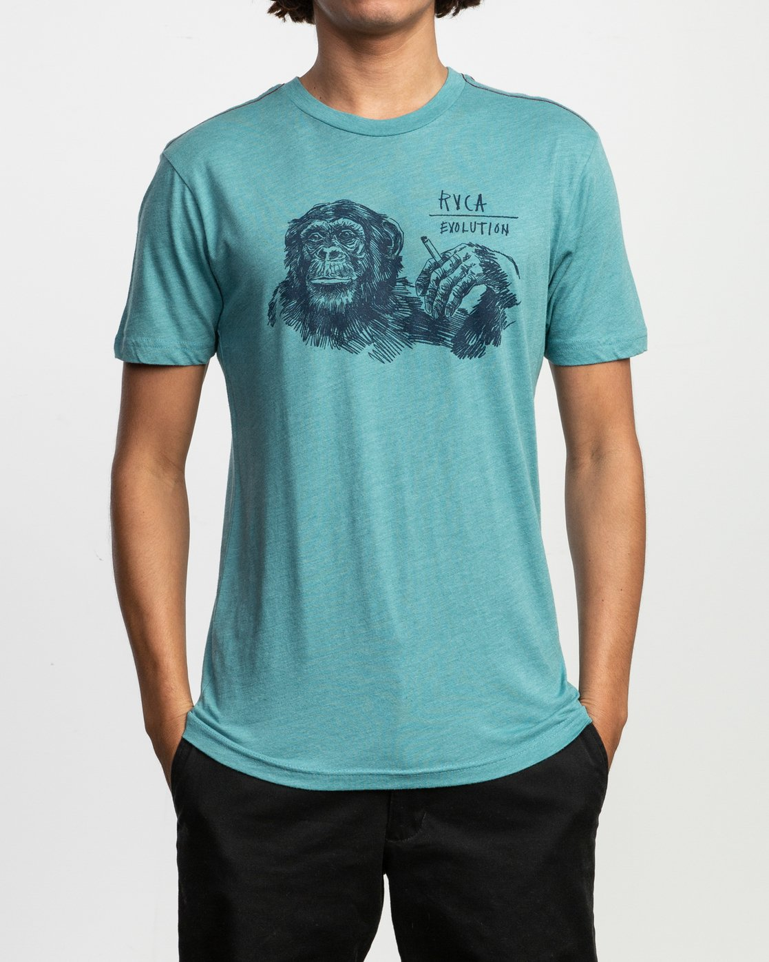 2 Ben Horton Smoker T-Shirt Blue M420TRSM RVCA