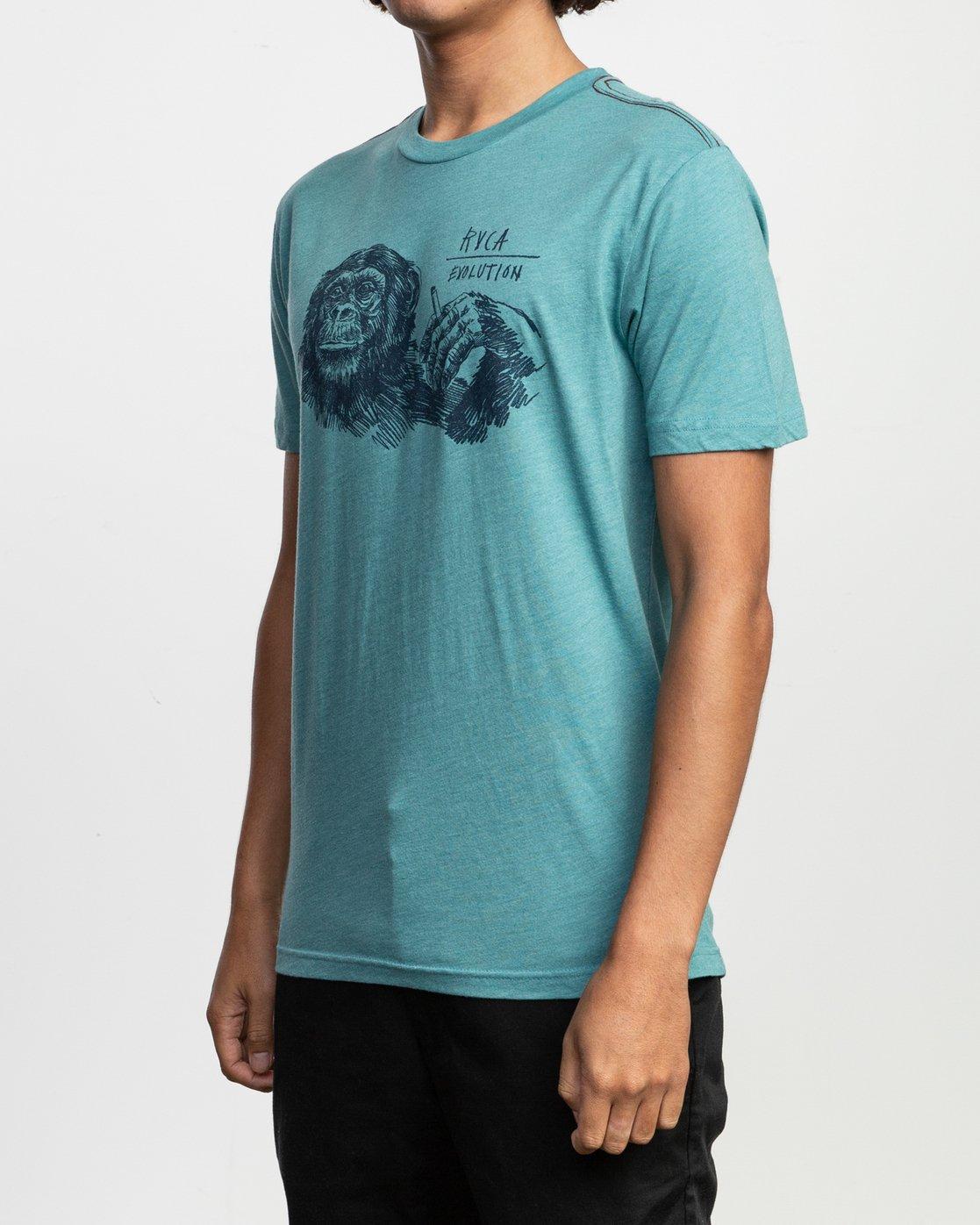 3 Ben Horton Smoker T-Shirt Blue M420TRSM RVCA