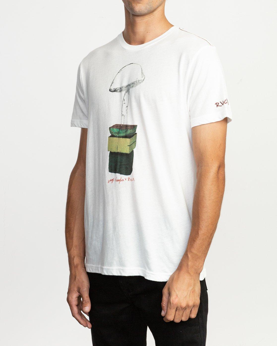 2 Sage Vaughn T-Shirt White M420TRVA RVCA