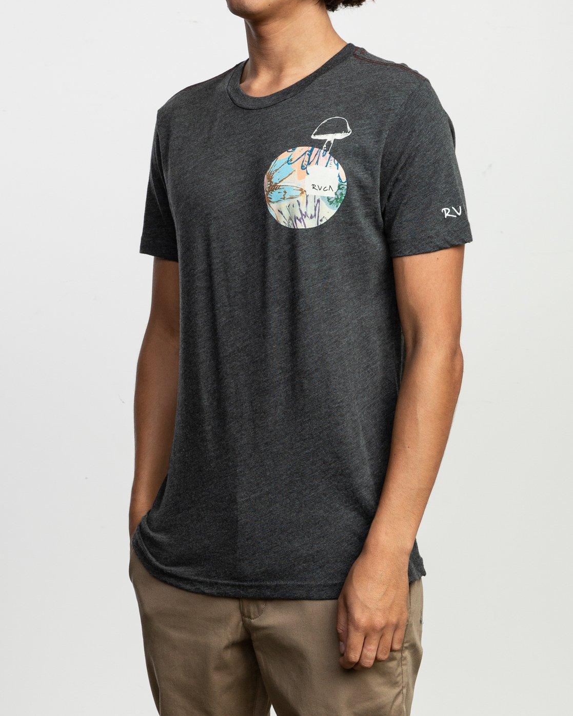 3 Sage Vaughn T-Shirt Black M420TRVA RVCA