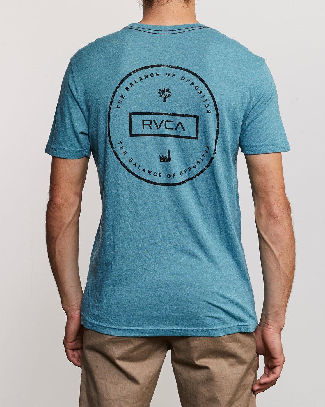 4 Induseal T-Shirt Blue M420URIN RVCA