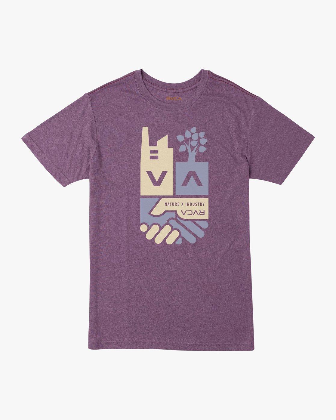 0 Partnered T-Shirt Purple M420URPA RVCA