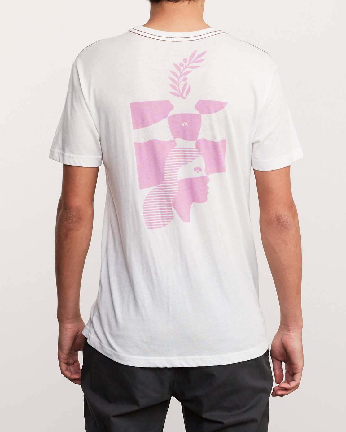 4 Mowgli Pitcher T-Shirt White M420URPI RVCA
