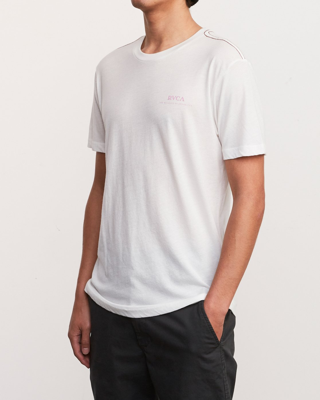 3 Mowgli Pitcher T-Shirt White M420URPI RVCA