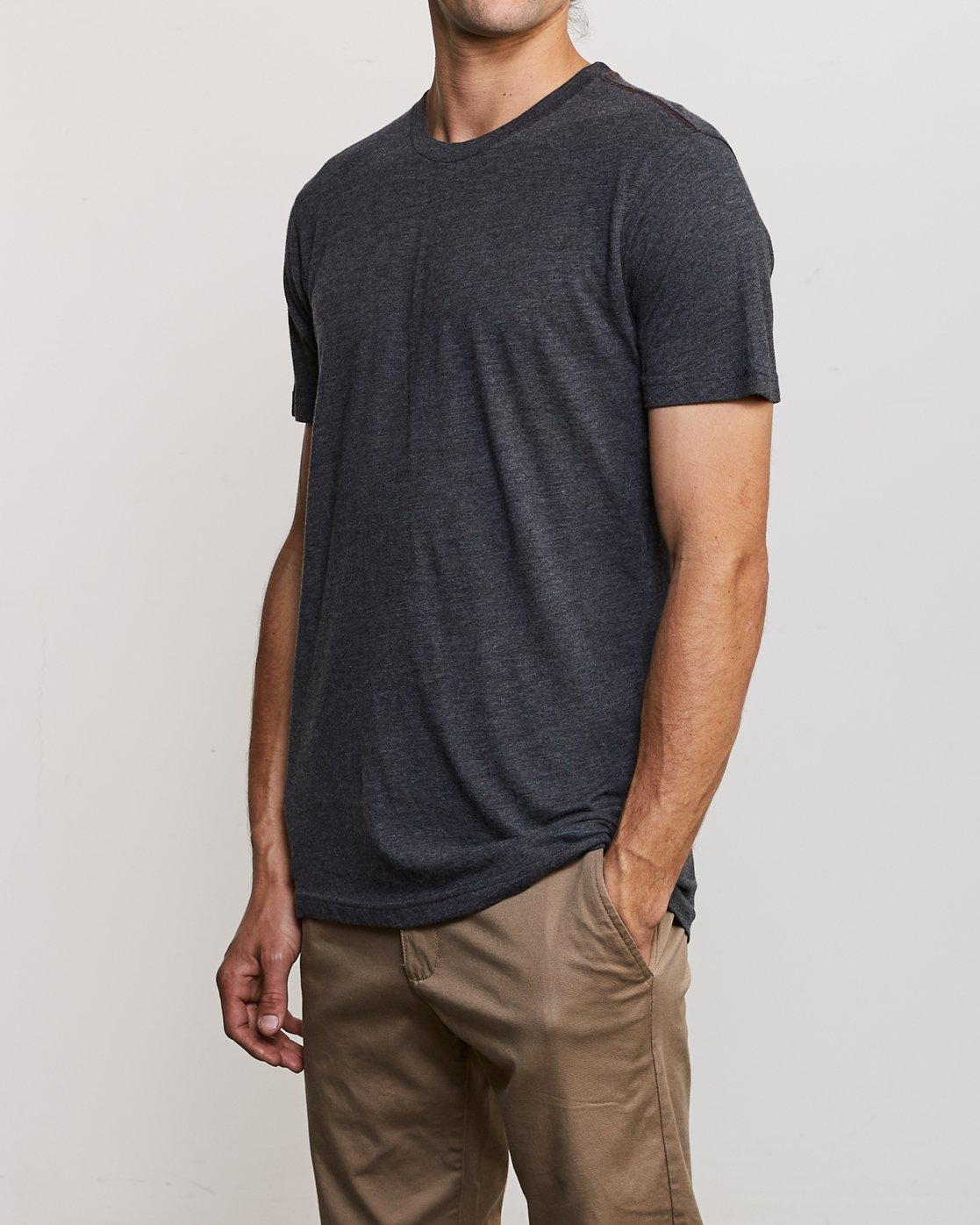 2 Solo Label T-Shirt Black M420URSO RVCA